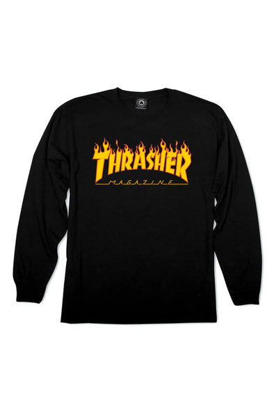Thrasher Flame Logo Long Sleeve Tee - Mainland Skate & Surf