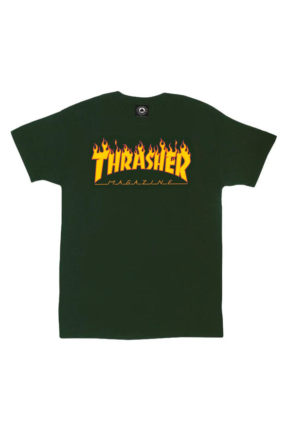 Thrasher Flame Tee - Mainland Skate & Surf