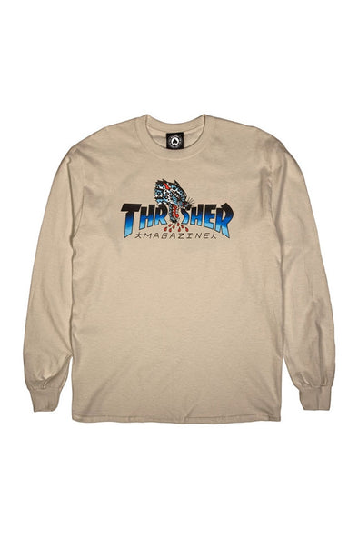 Thrasher Leopard Mag Long Sleeve Tee