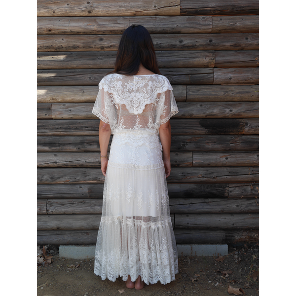Vintage Lace Gypsy Skirt
