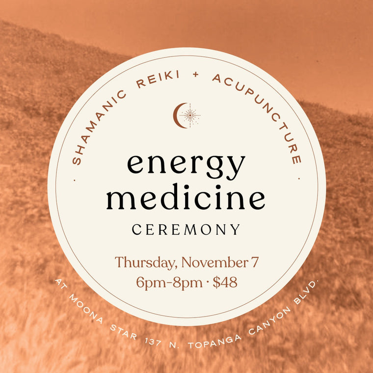 Energy Medicine Ceremony - Shamanic Reiki + Acupuncture November 7, 2019 6-8pm
