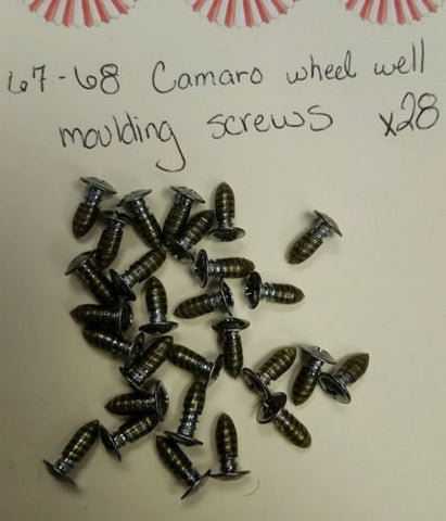 1967-1968 Camaro wheel well molding screws