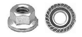 16769 - 25 M6-1.0 Metric Spin Lock Nuts with serrations