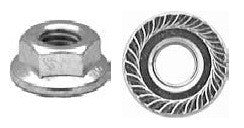 16830 - 25 M8-1.25 Metric Spin Lock Nuts With Serrations