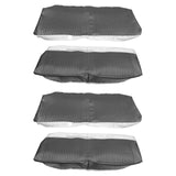 1964 Chevelle Coupe Rear Seat Covers Black