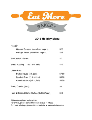 Check Out Our 2015 Holiday Menu