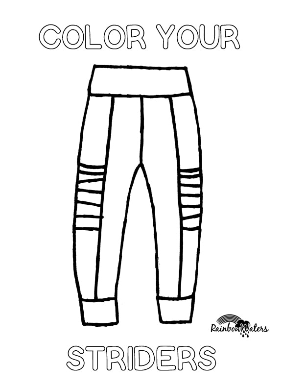 Color your Striders, Free Coloring Page