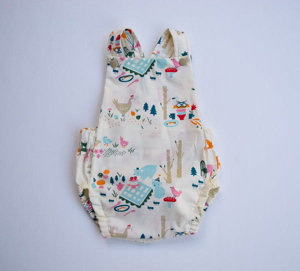 Picnic, Organic cotton bubble romper