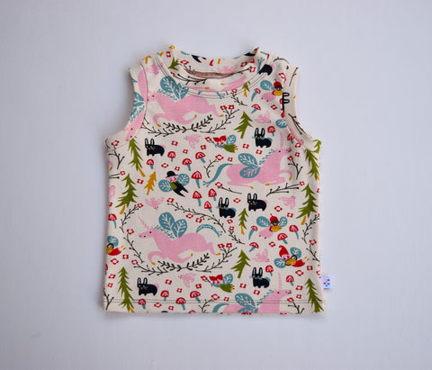 Organic Summer Tank, Folklore- Fairyland