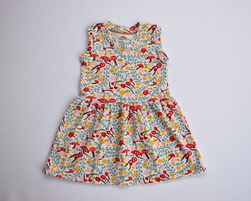 Organic Cotton Play Dress, Folklore- Shrooms