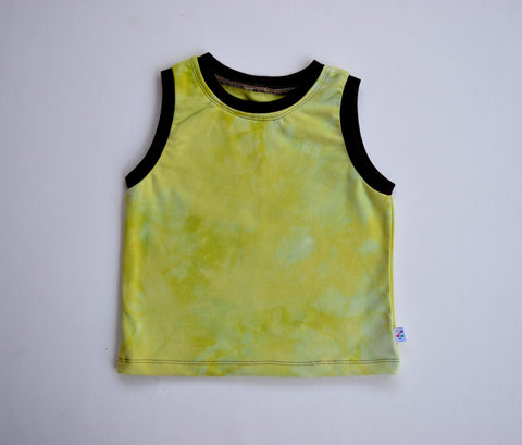 Organic bamboo Summer tank, hand dyed-Forest