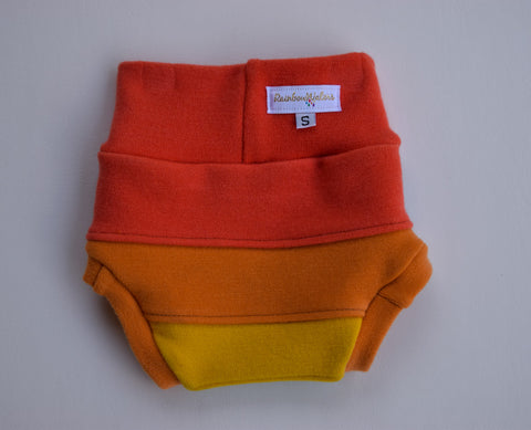 Sun-kissed Spectrum, Wool Diaper Cover