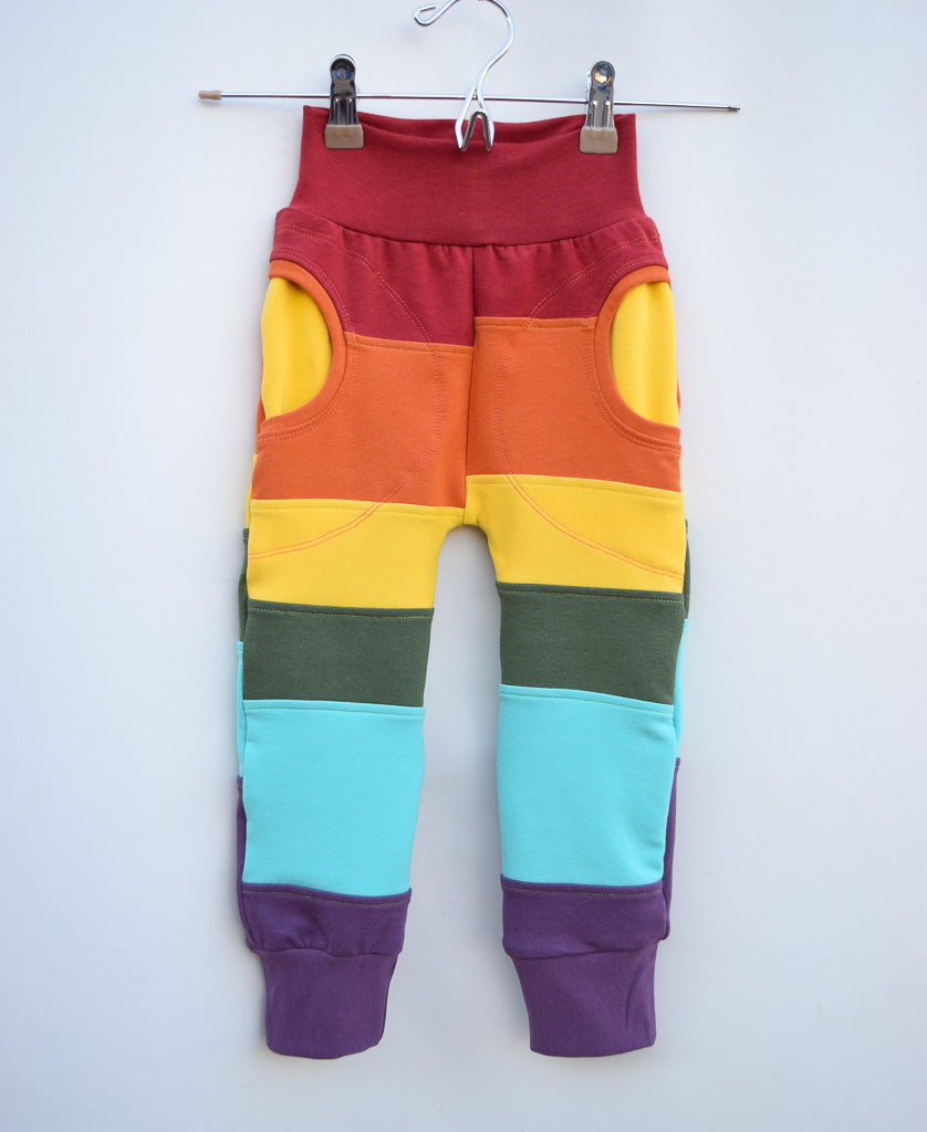 Elements rainbow Organic Bamboo cuffed pocket pants