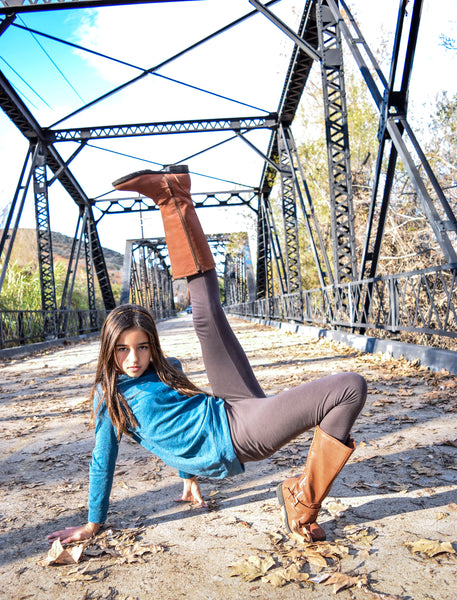 Organic bamboo leggings- pinks & neutrals