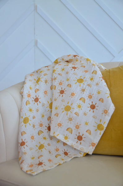 ☼ Mr. Golden Sun ☼ Swaddle Blanket