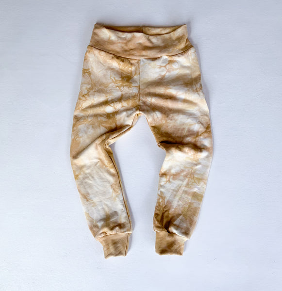 Sand Storm, organic bamboo leggings, hand dyed,