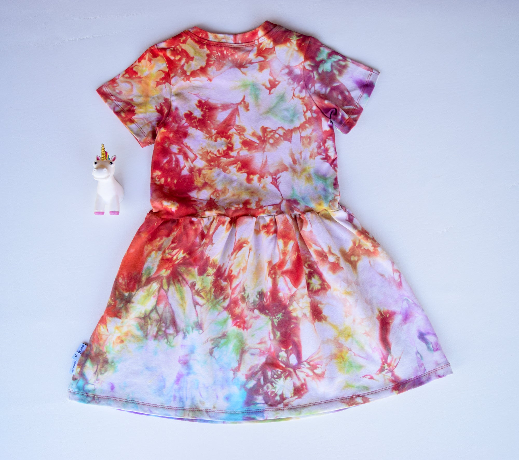 Size 5, Phoenix Rising, LWI Tie Dyed, play dress, short sleeves