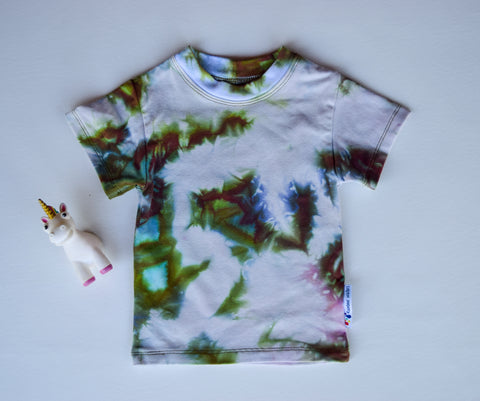 Size 18m, Earthly Elements, LWI Tie Dyed, Standard Tee, short sleeves