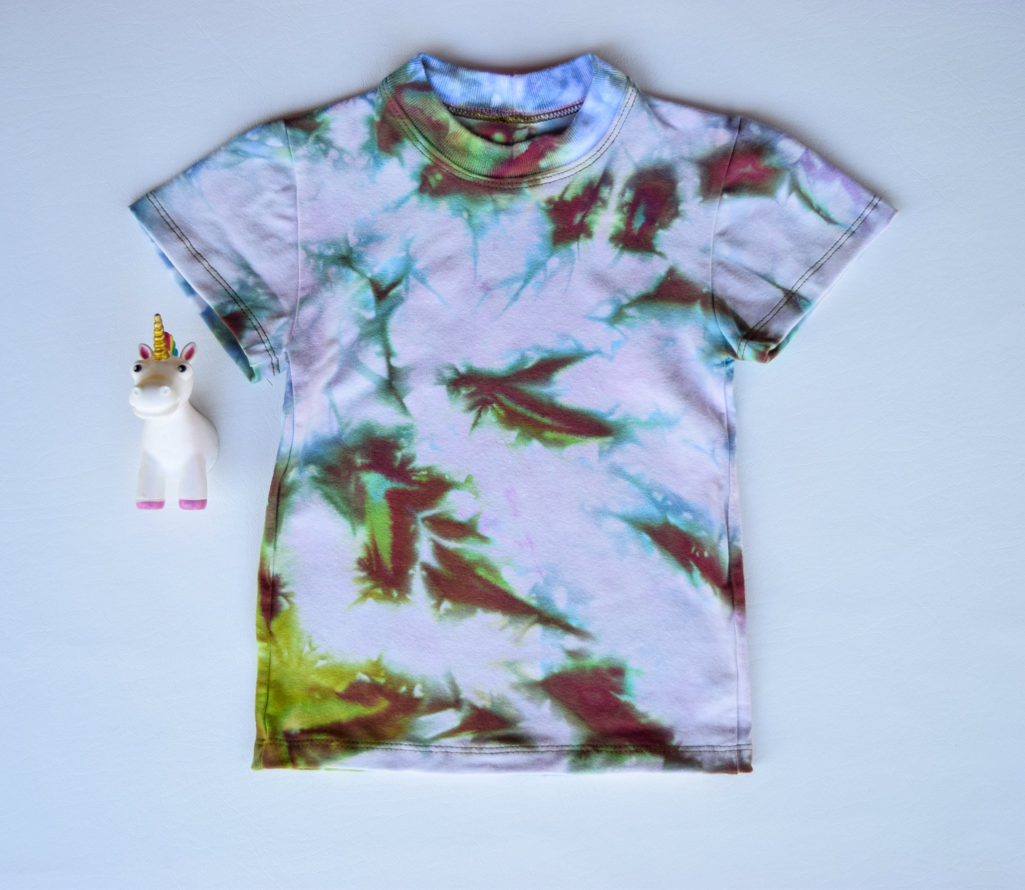 Size 2t, Earthly Elements, LWI Tie Dyed, Standard Tee, short sleeves