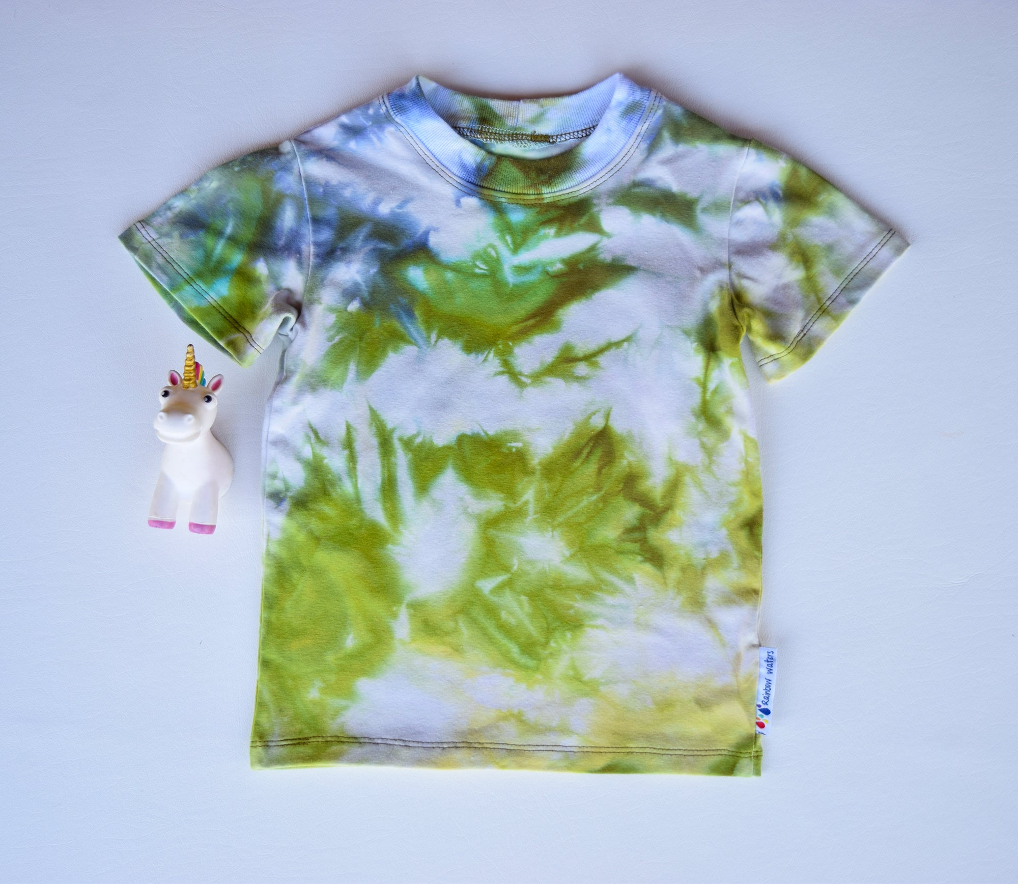 Size 4, Earthly Elements, LWI Tie Dyed, Standard Tee, short sleeves