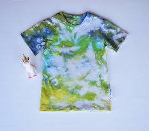 Size 5, Earthly Elements, LWI Tie Dyed, Standard Tee, short sleeves