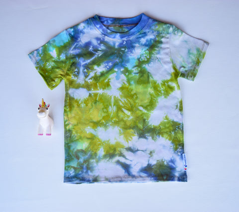 Size 6, Earthly Elements, LWI Tie Dyed, Standard Tee, short sleeves