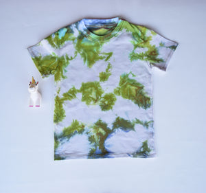 Size 7, Earthly Elements, LWI Tie Dyed, Standard Tee, short sleeves