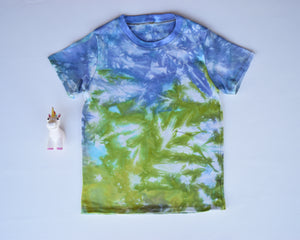 Size 8, Earthly Elements, LWI Tie Dyed, Standard Tee, short sleeves