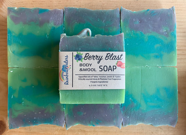 Berry Blast Handcrafted Wool & Body Soap Bar