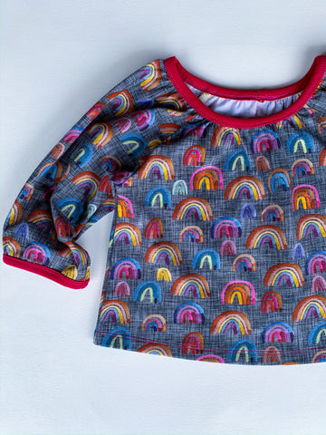 Size 2t Grey Rainbow Maia Blouse