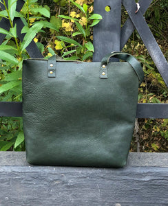 Moss Tote Hand Bag, by Sunday V Style, Italian Leather