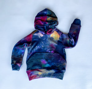 Galaxy Tie Dye Wool Hoodie, with pocket