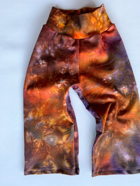 Winter Sunset Wool Pants, marble dyed