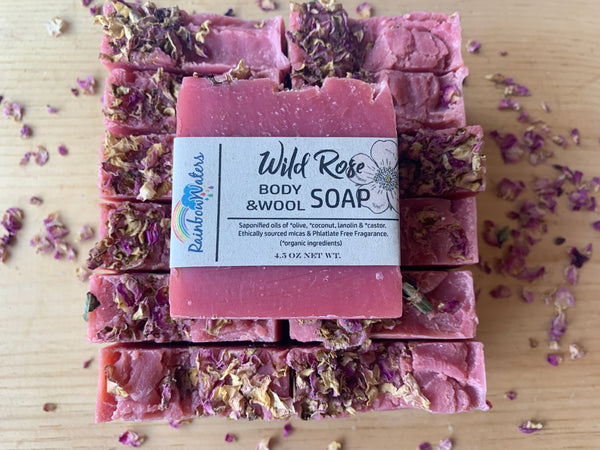 Wild Rose, Handcrafted Wool & Body Soap Bar