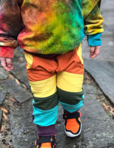 Rainbow Organic Bamboo Pocket Pants, colorblocked, kids