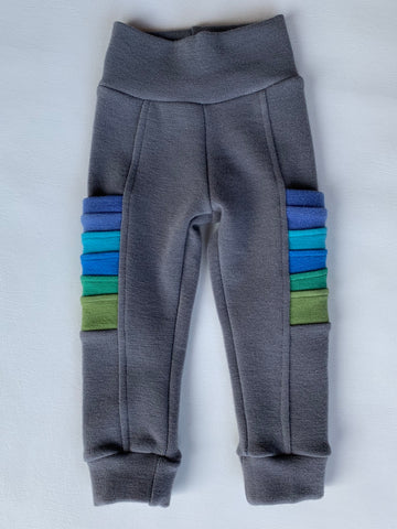 "Baby Medium long , 12"" inch Steel Wool Leggings with ombre pockets"