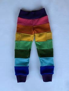 Rainbow Reminiscence Wool joggers with cuffs, with gecko pockets
