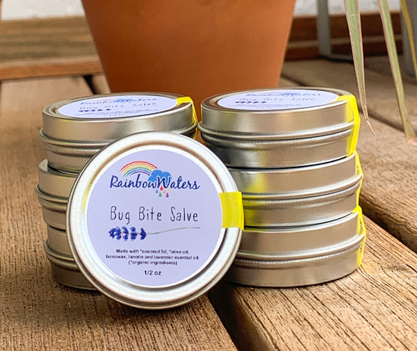 Bug Bite Salve, with soothing lavender, 1/2 oz tin