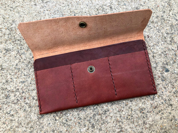 Brown Wallet, by Sunday V Style, Italian Leather