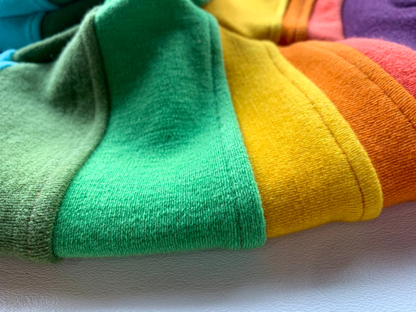 Rainbow Reminiscence Wool joggers with cuffs