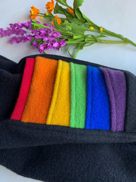 Onyx Wool Striders with rainbow pockets