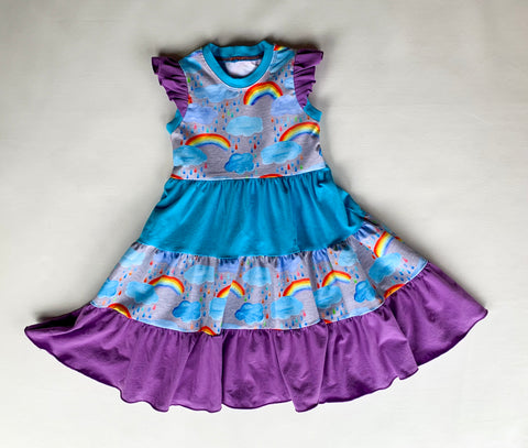 Size 5 Rainbow Watercolours Crazy Dress