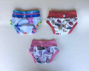 size 18m-24m, 3 pack undies- mermaids, stars & animals