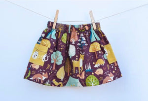 18 months, Friends of the Woods Farm Skirt w/ double pockets, 100% Organic Cotton