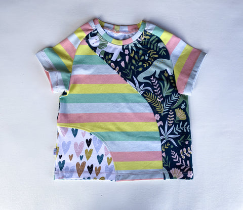Size 4T, Secret Popsicle Crazy Raglan Tee with short sleeves