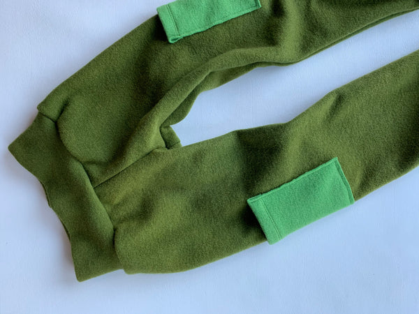 Avocado Wool Joggers, with pockets