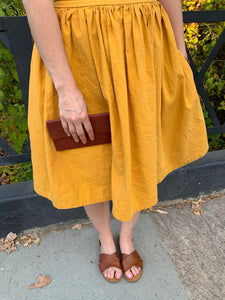 Women's ALICE linen skirt, Honey