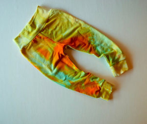 SUNRISE tie dye organic bamboo leggings, kids and baby sizing,