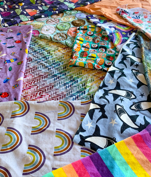 Fabric Scrap Bundles, for crafting!
