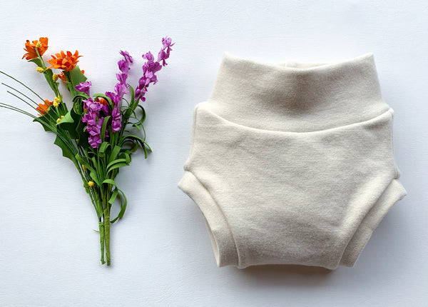 Wool Diaper Cover, natural & undyed